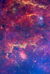 カラフルな宇宙銀河の雲iPhone 6壁紙