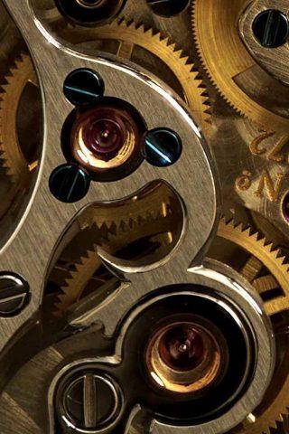 ゴールデンウォッチ歯車クローズアップiPhone6壁紙
