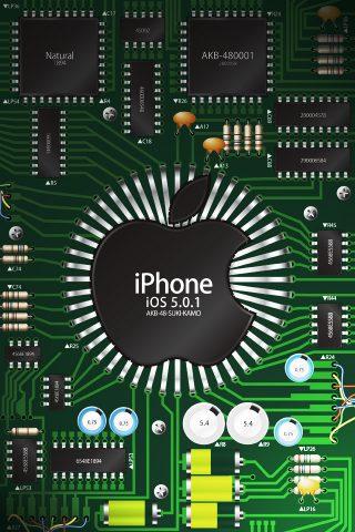 マイクロチップスグリーンiPhone壁紙