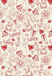 愛のバレンタインパターンiPhone 8壁紙