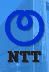 NTTロゴブルーiPhone X壁紙