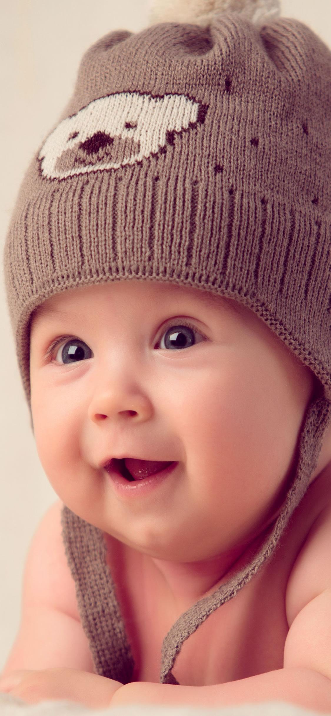 かわいい赤ちゃんハットマフラーキャップiphonex壁紙 Iphoneチーズ