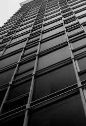 オフィスビルのウィンドウブラックホワイトiPhone6壁紙