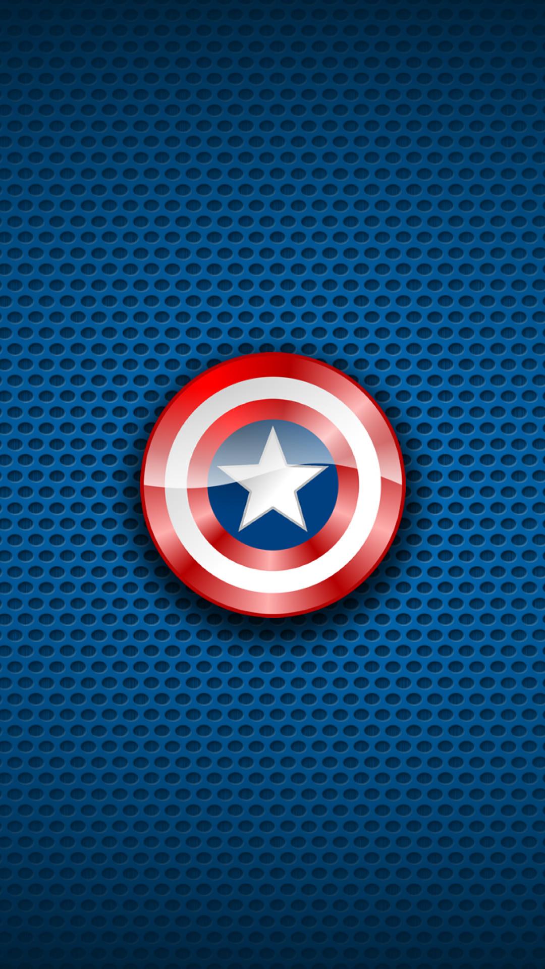 キャプテン アメリカマーベルコミックスブルーiphone 8 Plus壁紙