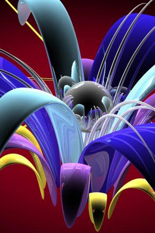 抽象花びらガラスプラスチックボリュームiPhone8壁紙