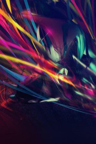 カラフルな抽象的な光の線iPhone 7 Plus壁紙