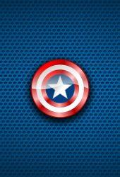 キャプテン・アメリカマーベルコミックスブルーiPhone 8 Plus壁紙