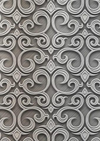 バロック銀パターンiPhone5壁紙