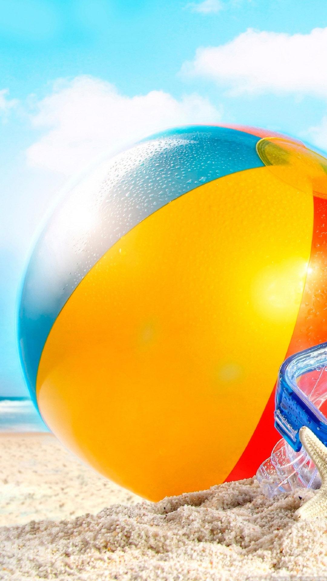 砂の夏のビーチボールiphone8plus壁紙 Iphoneチーズ