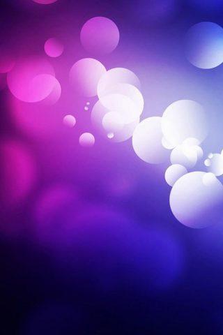 紫の抽象画バブルiPhone7Plus壁紙