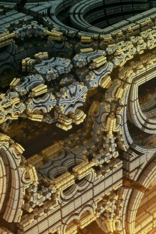 3D抽象的なぼかしフィギュア背景iPhone6壁紙