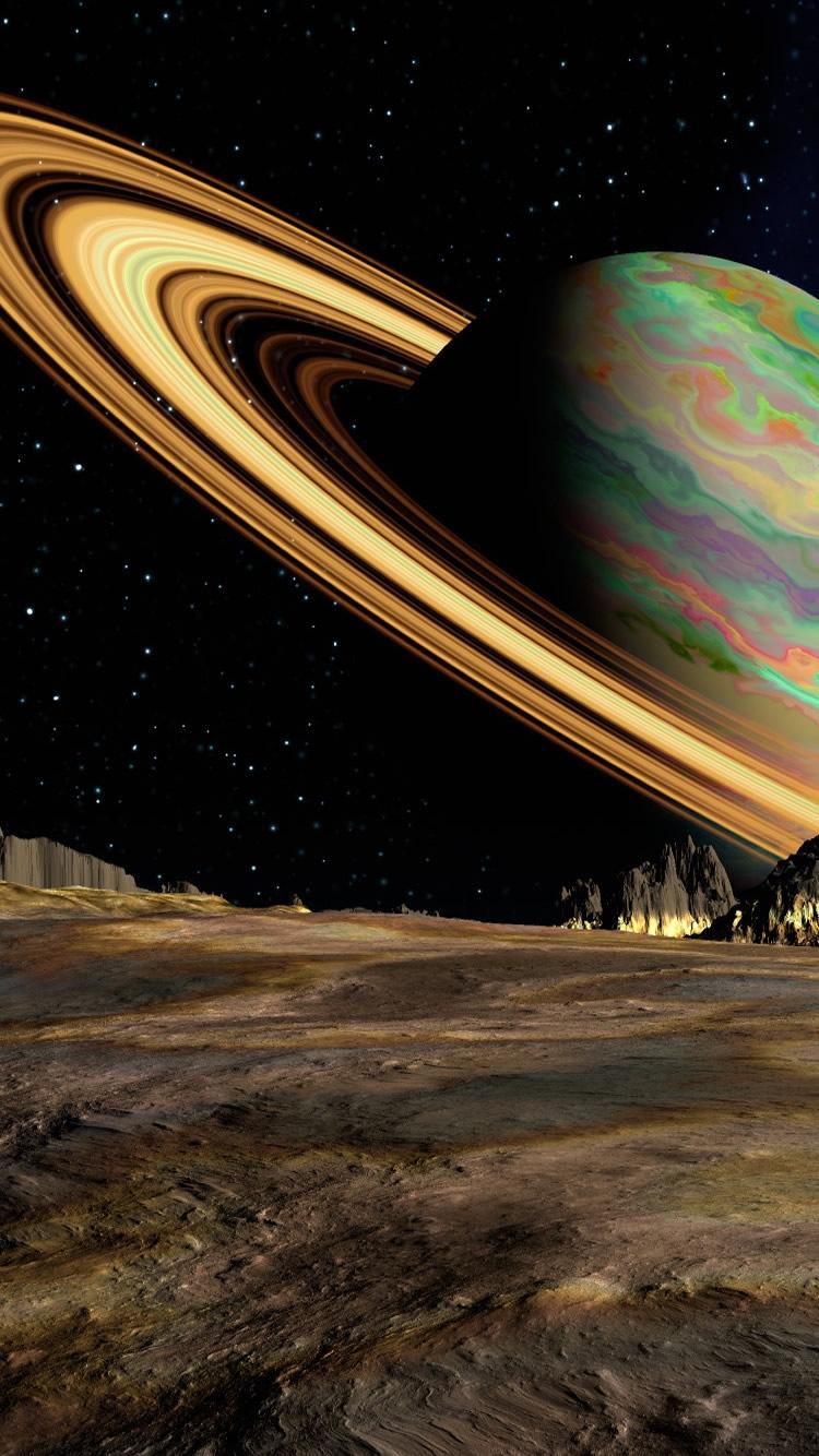 惑星土星宇宙リングiphone 8 7 6 スペース壁紙 Iphoneチーズ