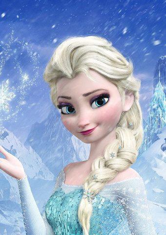 エルザ冷凍女王ディズニーフィルムアートiPhone8映画壁紙