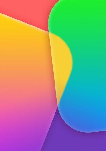 カラフルなアプリのタイルiPhone 7 Plus抽象壁紙