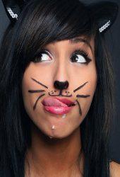 ガールフェイスメイク猫おかしいですiPhone6壁紙