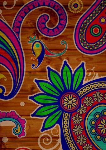 パターンテクスチャ背景カラフルiPhone8壁紙