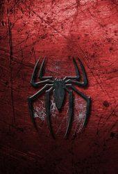 マーベル赤い背景スパイダーマンロゴiPhone6壁紙