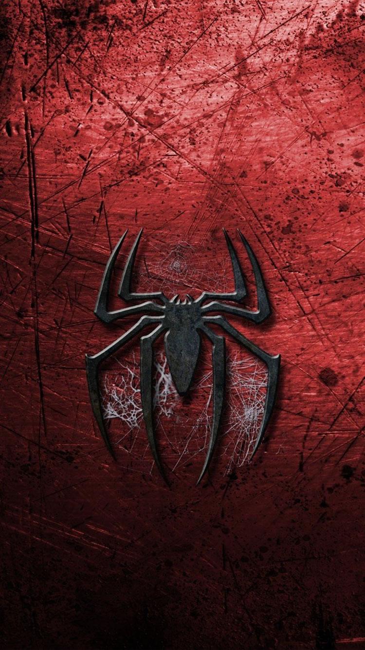 マーベル赤い背景スパイダーマンロゴiphone6ブランド壁紙 Iphoneチーズ