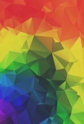 レインボー三角形抽象iPhone7Plus壁紙