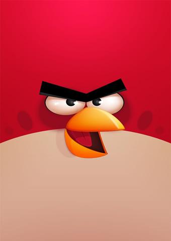 怒っている鳥のゲームiPhone6壁紙