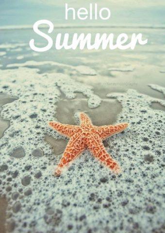 こんにちは夏iPhone5壁紙