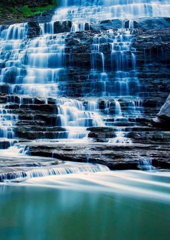 アルビオンの滝オンタリオ州カナダiPhone6壁紙