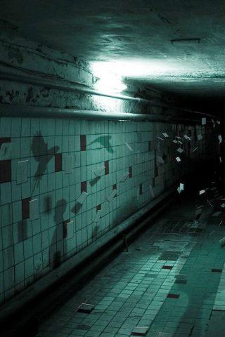 スパイシーコリドール壁タイルフライングハロウィンiPhone8壁紙