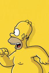 ホーマーシンプソンズ裸の実行iPhone6壁紙