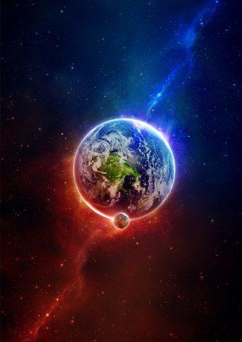 地球宇宙波芸術iPhone6壁紙