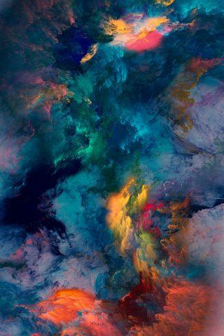 抽象的な色の嵐iPhone8Plus壁紙