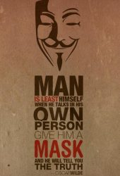 オスカー・ワイルドの引用匿名マスクiPhone8Plus壁紙