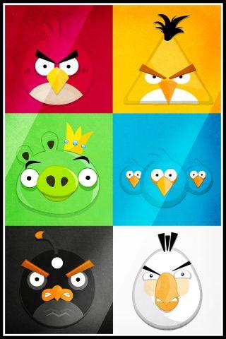 「Angry Birds」怒っている鳥コラージュiPhone壁紙