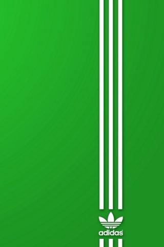アディダス服履物スポーツロゴバンドiPhone7壁紙
