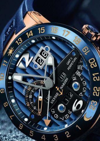 ユリシーズナーディンブルートーロクロノメーター腕時計iPhoneX壁紙