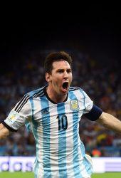 リオネル・メッシブラジルワールドカップのゴールパフォーマンスiPhone6壁紙