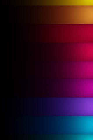 暗い影の色の虹の行iPhone8Plus壁紙