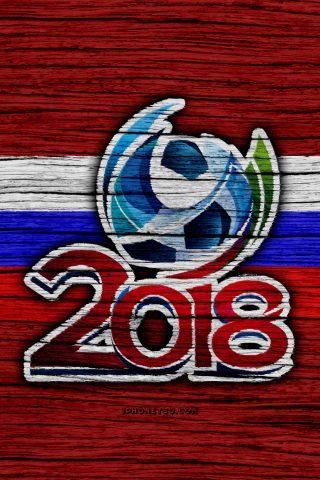 2018 FIFAワールドカップ ロシアロゴiPhone 8 Plus壁紙