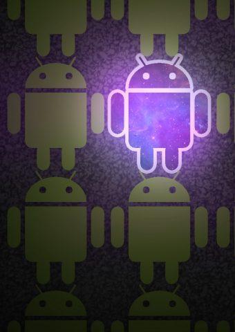 Androidの宇宙のブランドロゴiPhone5壁紙