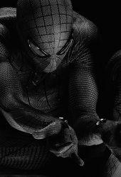 スパイダーマンブラックiPhone8Plus壁紙