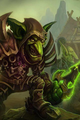 『World of Warcraft』 ワールド オブ ウォークラフトゴブリンiPhone8壁紙