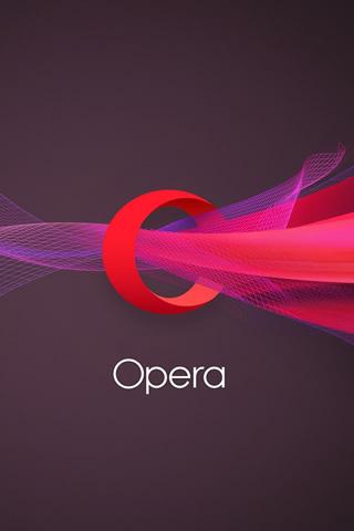 オペラの新ブランドロゴiPhone8壁紙