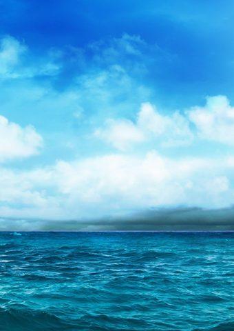 オーシャンブルースカイストーム接近iPhone6壁紙