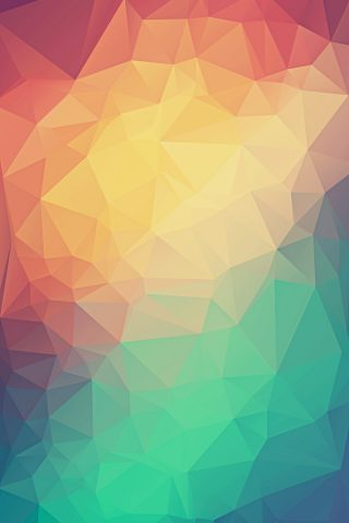 カラフルな低ポリ三角iPhone8Plus壁紙