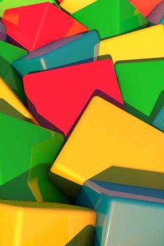 ブロックの明るいマルチカラーiPhone 6 Plus壁紙
