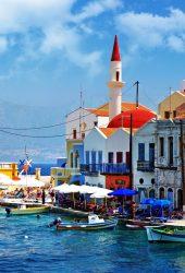 美しいギリシャ港町iPhone6壁紙