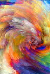 カラフルな抽象的なデザインiPhoneX壁紙