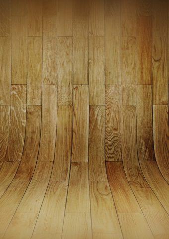湾曲した木の床パターンiPhone8Plus壁紙