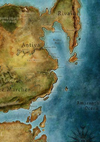 Dragon Age II (ドラゴンエイジII) 地図iPhone8壁紙