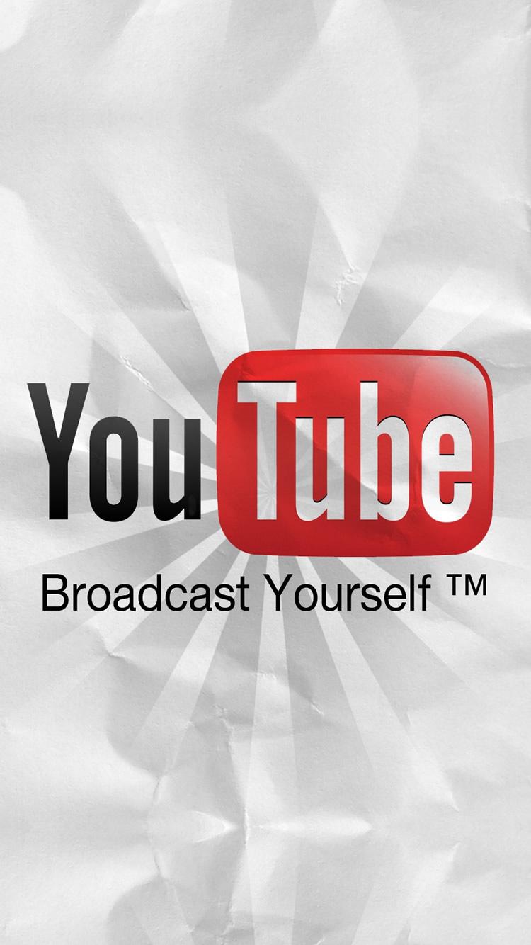 Youtube ユーチューブロゴ情報ポータルiphone8壁紙 750 1334