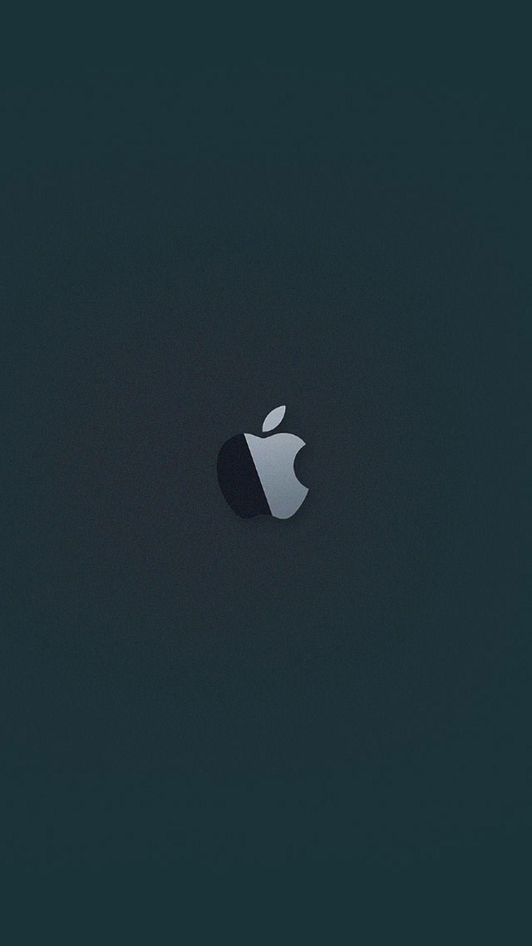 アップル Apple Inc のロゴダークグリーンiphone 8 7 Plus壁紙
